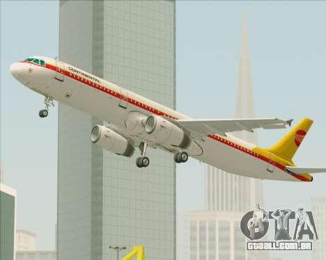 Airbus A321-200 Continental Airlines para GTA San Andreas