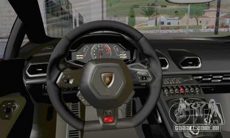 Lamborghini Huracan 2014 Type 2 para GTA San Andreas vista direita