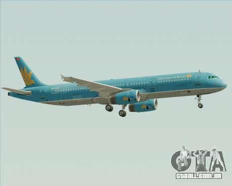 Airbus A321-200 Vietnam Airlines para GTA San Andreas vista direita