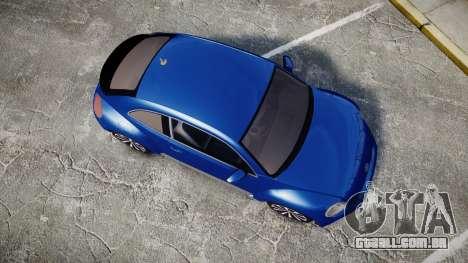 Volkswagen Beetle A5 Fusca para GTA 4 vista direita