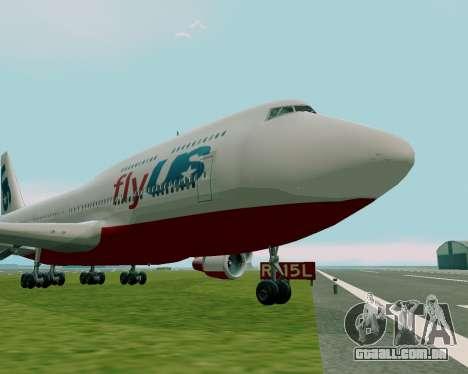 FlyUS para GTA San Andreas traseira esquerda vista