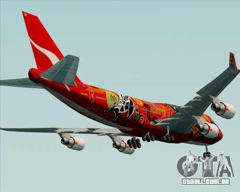 Boeing 747-400ER Qantas (Wunala Dreaming) para GTA San Andreas vista inferior