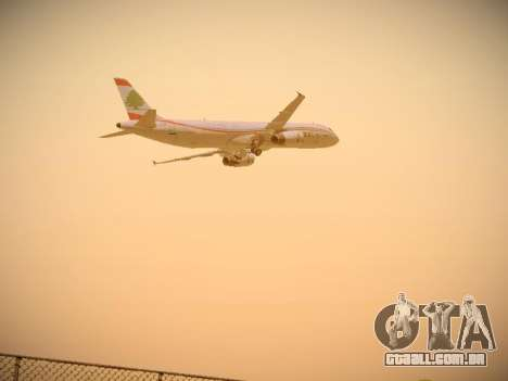 Airbus A321-232 Middle East Airlines para GTA San Andreas vista superior