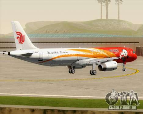 Airbus A321-200 Air China (Beautiful Sichuan) para GTA San Andreas vista inferior