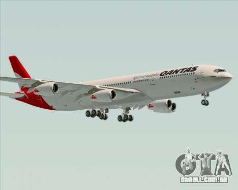 Airbus A340-300 Qantas para vista lateral GTA San Andreas