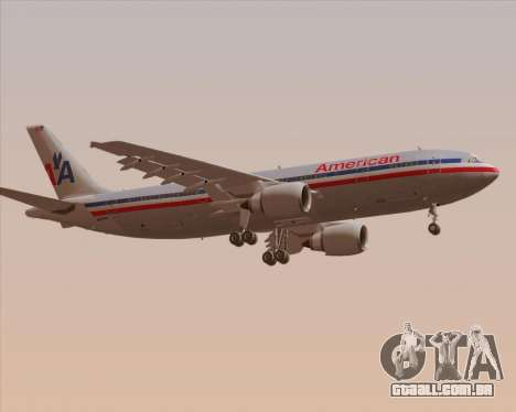 Airbus A300-600 American Airlines para GTA San Andreas vista direita