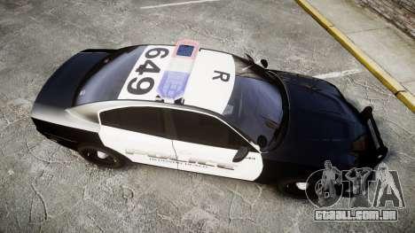Dodge Charger 2014 Redondo Beach PD [ELS] para GTA 4 vista direita