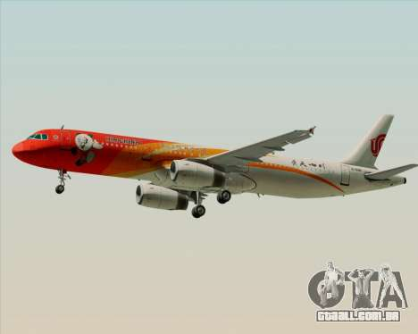 Airbus A321-200 Air China (Beautiful Sichuan) para GTA San Andreas vista direita