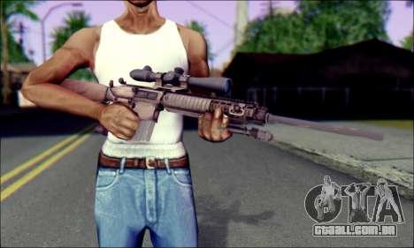 M110 com uma Ótica visão para GTA San Andreas terceira tela