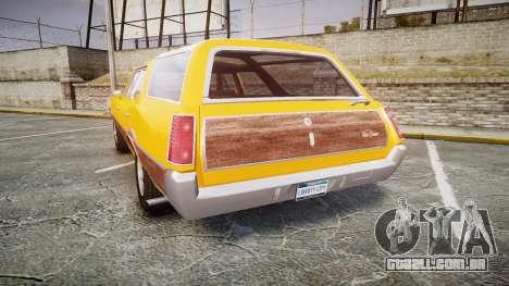 Oldsmobile Vista Cruiser 1972 Rims2 Tree3 para GTA 4 traseira esquerda vista