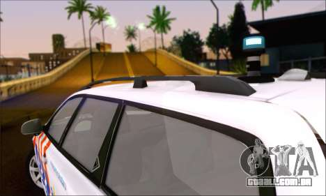 Volvo V70 LE Politie para GTA San Andreas traseira esquerda vista