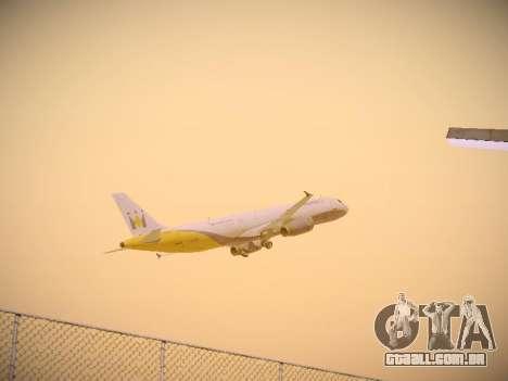 Airbus A321-232 Monarch Airlines para GTA San Andreas vista superior
