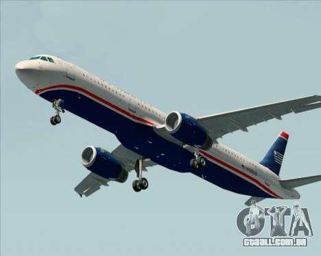 Airbus A321-200 US Airways para GTA San Andreas esquerda vista