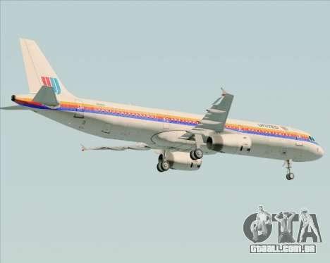 Airbus A321-200 United Airlines para GTA San Andreas vista inferior