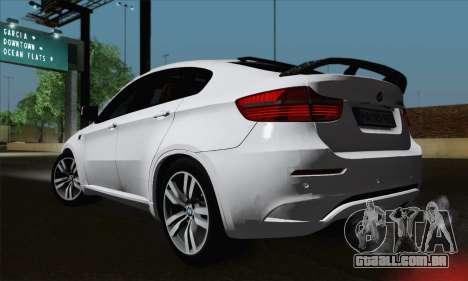 BMW X6M 2013 para GTA San Andreas esquerda vista