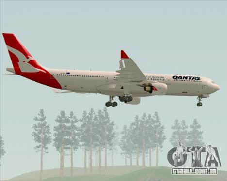 Airbus A330-300 Qantas (New Colors) para as rodas de GTA San Andreas
