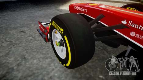 Ferrari F138 v2.0 [RIV] Massa TSD para GTA 4 vista de volta