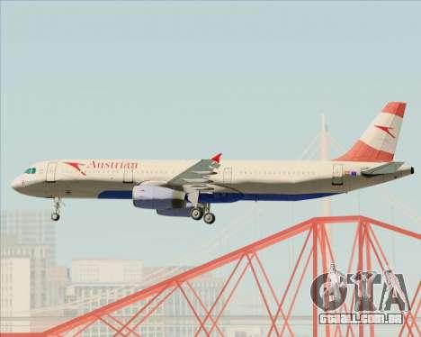 Airbus A321-200 Austrian Airlines para as rodas de GTA San Andreas
