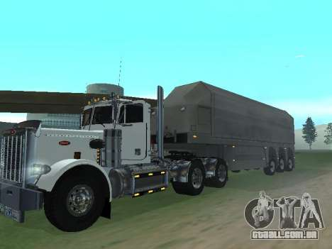 Box Glass Trailer para GTA San Andreas traseira esquerda vista