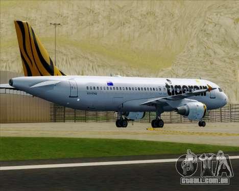 Airbus A320-200 Tigerair Australia para as rodas de GTA San Andreas