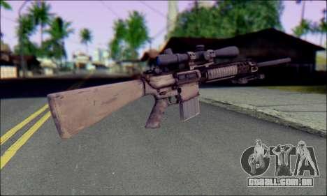 M110 com uma Ótica visão para GTA San Andreas segunda tela