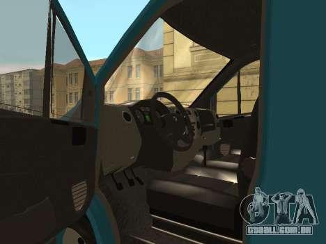 Gazela Seguinte para GTA San Andreas vista traseira