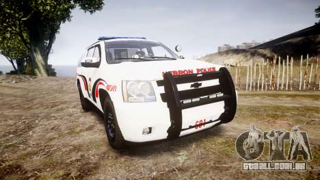 Chevrolet Suburban 2008 Hebron Police [ELS] Blue para GTA 4