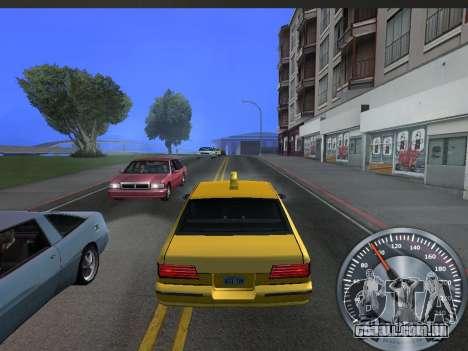 Clássico metal velocímetro para GTA San Andreas