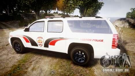 Chevrolet Suburban 2008 Hebron Police [ELS] Red para GTA 4 esquerda vista