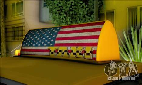 Willard Marbelle Taxi Saints Row Style para GTA San Andreas traseira esquerda vista