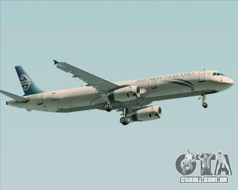 Airbus A321-200 Air New Zealand para GTA San Andreas vista direita