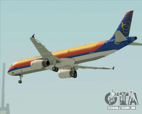 Airbus A321-200 Air Jamaica para as rodas de GTA San Andreas