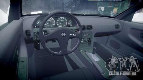 Nissan 240SX S13 para GTA 4 vista de volta