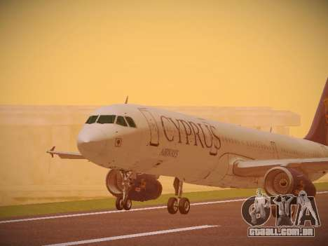 Airbus A321-232 Cyprus Airways para GTA San Andreas esquerda vista