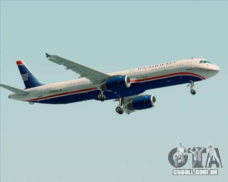Airbus A321-200 US Airways para GTA San Andreas vista traseira