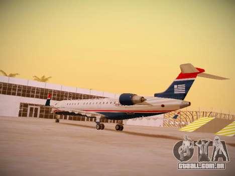 Bombardier CRJ-700 US Airways Express para GTA San Andreas traseira esquerda vista