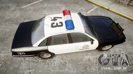 Vapid Police Cruiser MX7000 para GTA 4 vista direita