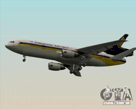 McDonnell Douglas DC-10-30 Singapore Airlines para GTA San Andreas vista direita