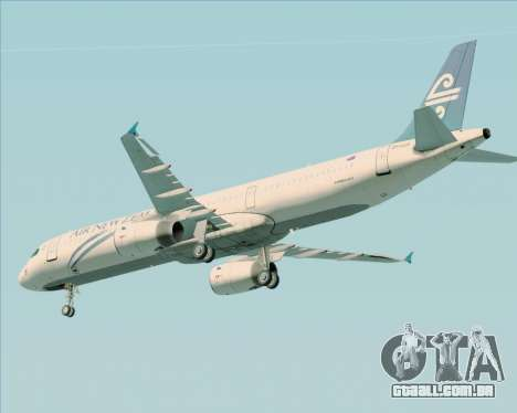 Airbus A321-200 Air New Zealand para o motor de GTA San Andreas