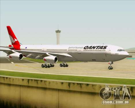 Airbus A340-300 Qantas para GTA San Andreas vista interior