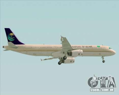 Airbus A321-200 Saudi Arabian Airlines para GTA San Andreas vista superior