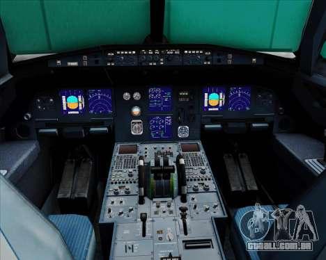 Airbus A321-200 TransAsia Airways para GTA San Andreas interior