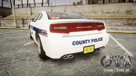 GTA V Bravado Buffalo Liberty Police [ELS] Slick para GTA 4 traseira esquerda vista