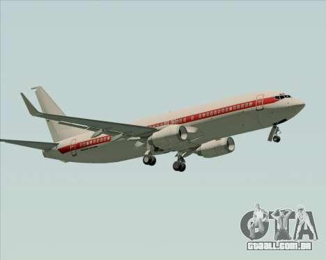 Boeing 737-800 EG&G - Janet para GTA San Andreas vista interior