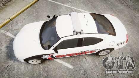 Dodge Charger 2010 LC Sheriff [ELS] para GTA 4 vista direita