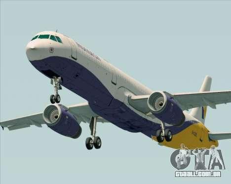 Airbus A321-200 Monarch Airlines para GTA San Andreas esquerda vista