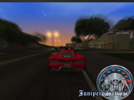 Clássico metal velocímetro para GTA San Andreas sexta tela