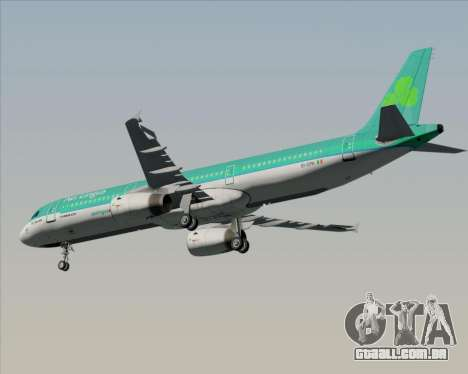 Airbus A321-200 Aer Lingus para GTA San Andreas vista interior