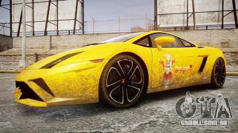 Lamborghini Gallardo 2013 HDD Honoka Kousaka para GTA 4 vista de volta