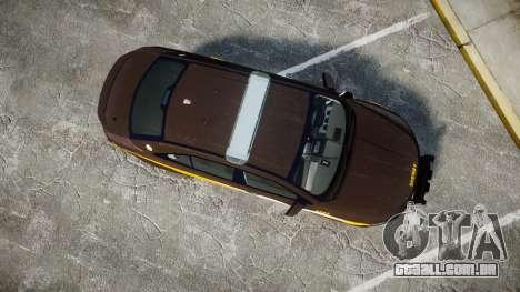 Ford Taurus Sheriff [ELS] Virginia para GTA 4 vista direita